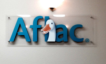 Aflac Dimensional Sign