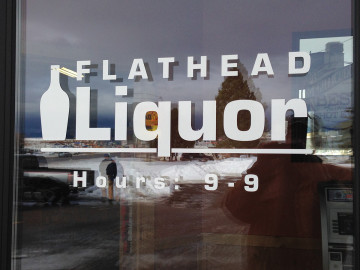 Flathead Liquor Window