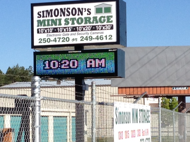 Simons Electric Sign